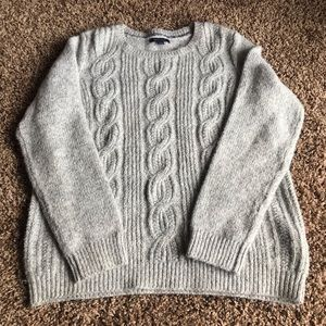 Grey Tommy Hilfiger Cable Knit Sweater Size Large